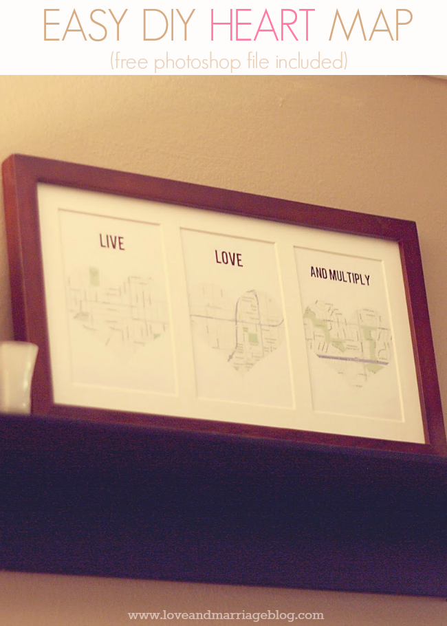 Easy Diy Heart Map Love And Marriage