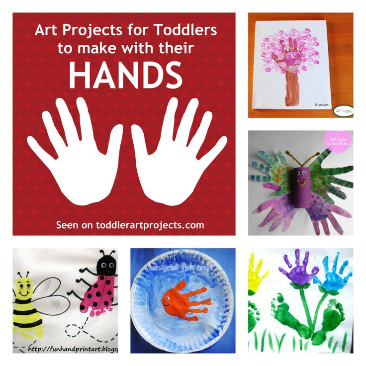 8 art projects for toddlers to make with their hands for Craft paint safe for babies