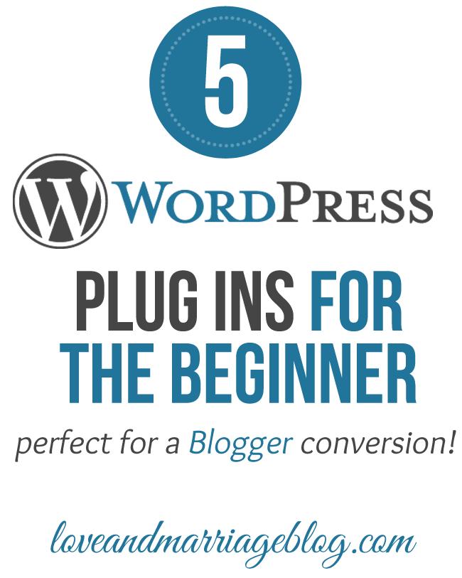 5 WordPress Plugins for The Newbie