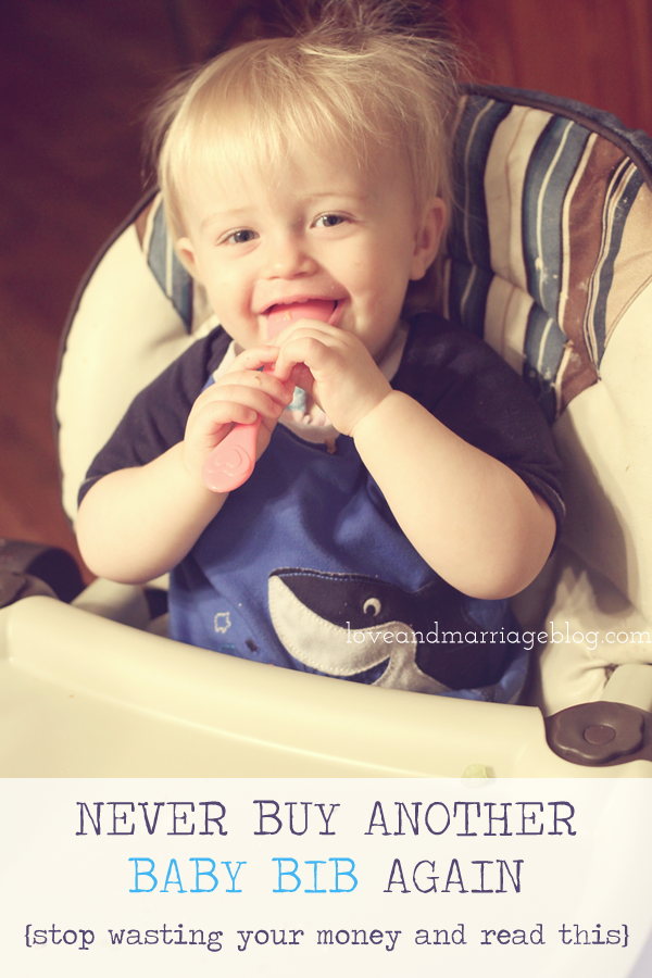 Stop buying baby bibs & try this trick instead!