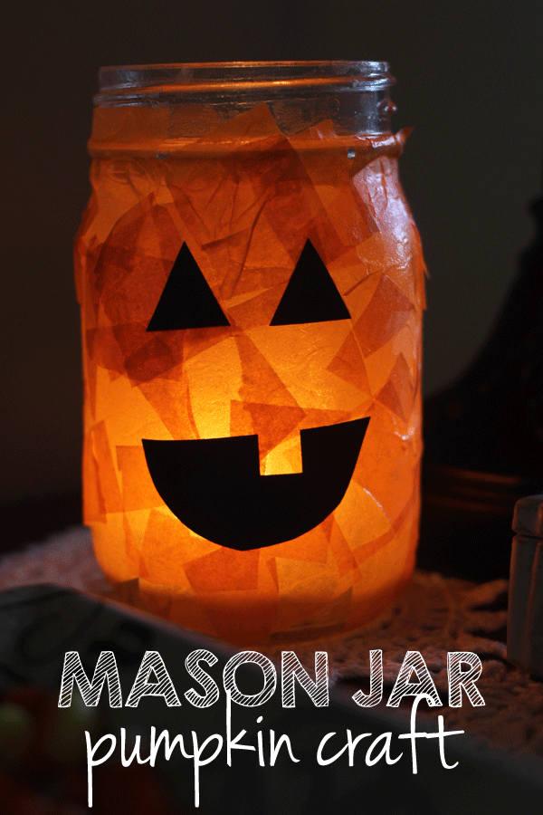 Halloween Craft : Mason Jar Pumpkin