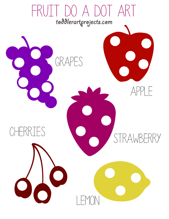 Free Fruit Do A Dot Printable