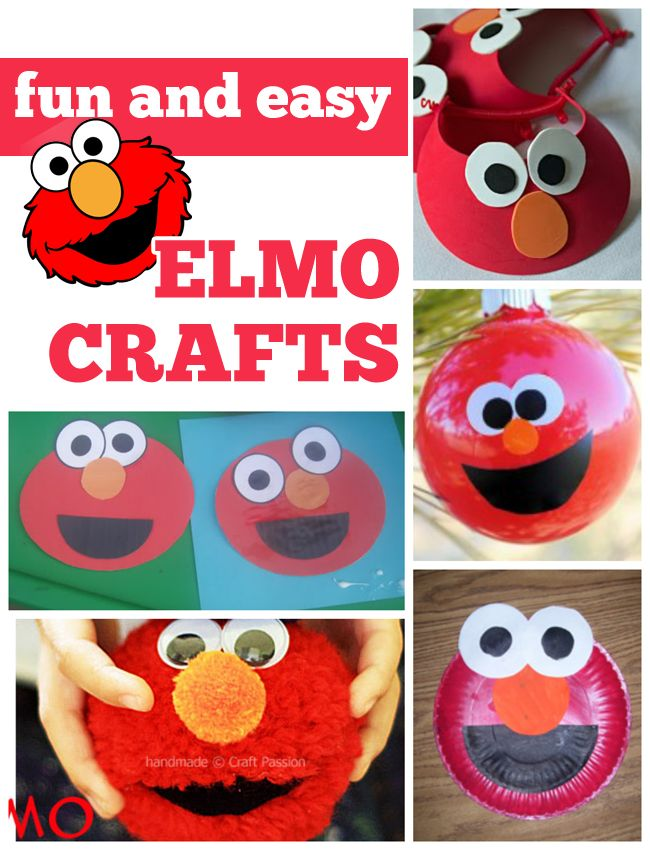 8 Fun & Easy Elmo Crafts