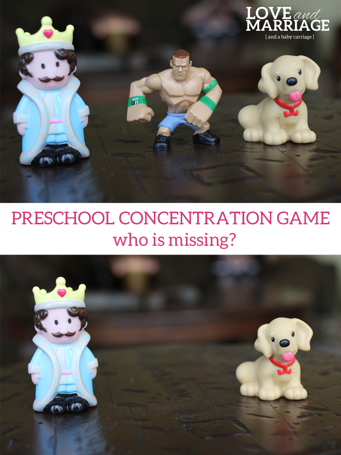 Preschool Concentration Game