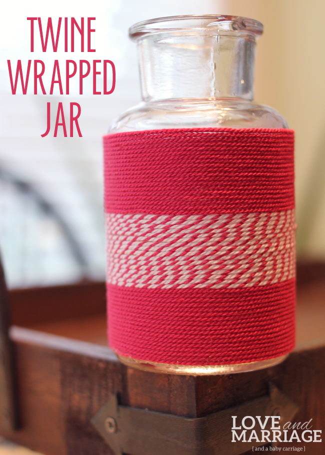 DIY Twine Wrapped Jar