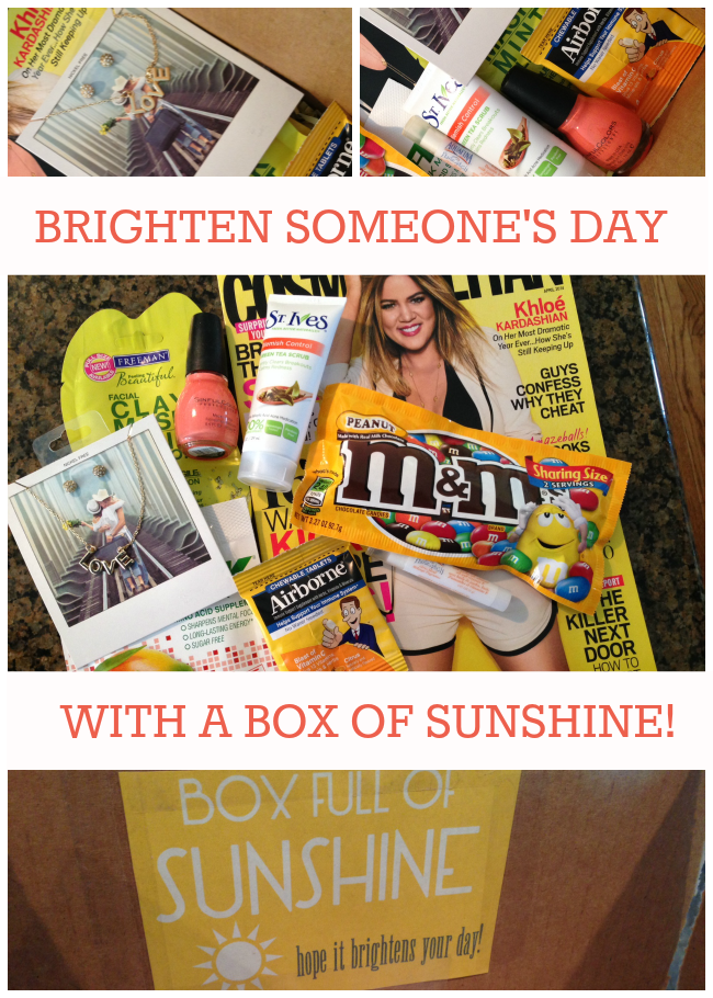 A little box of sunshine to brighten your day