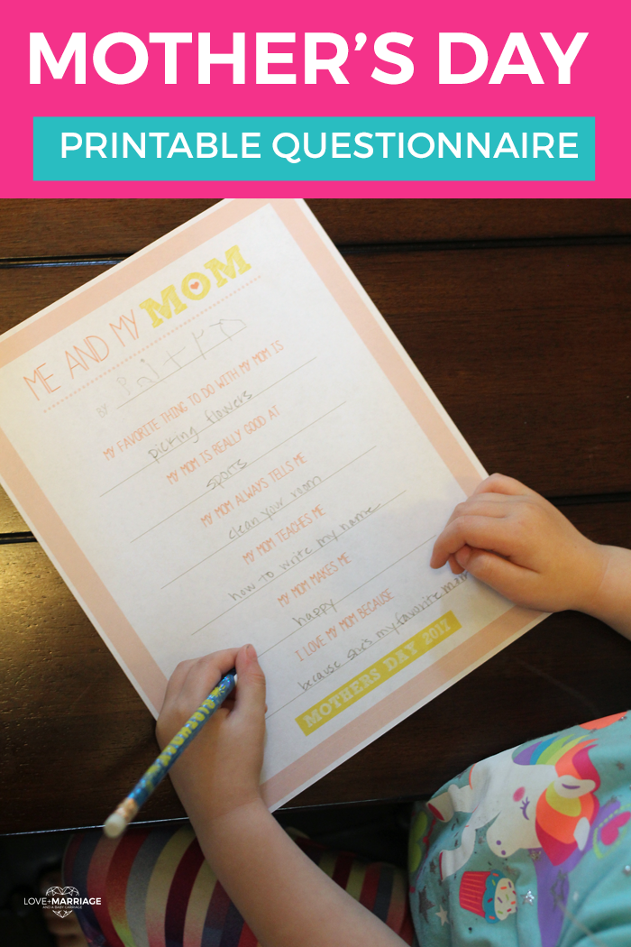 Adorable Mother's Day Printable for Kids To Make for Mom | free mothers day printables