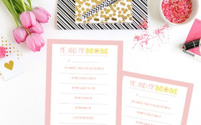 Mother's Day Free Printable - Me and My Mom
