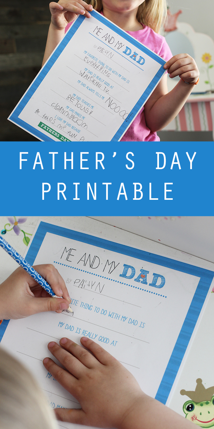 Me And My Dad Father's Day Free Printable