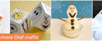 Olaf Frozen Crafts