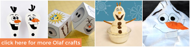 Olaf Frozen Crafts