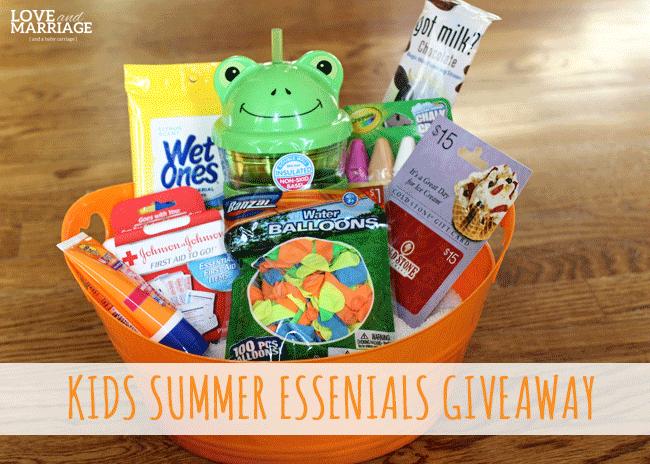 Kids Summer Essentials Giveaway!