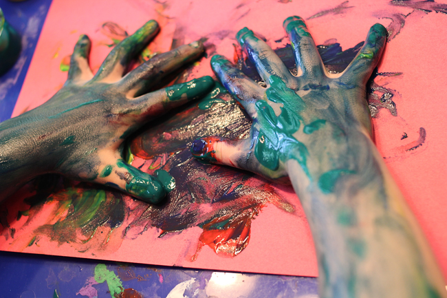 If you give a boy finger paint...