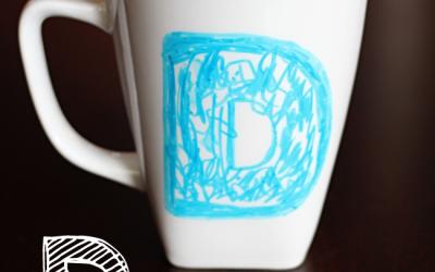 D is for Dad Sharpie Mug