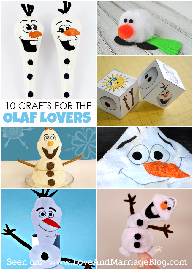 Frozen Crafts :: For The Olaf Obsessed!