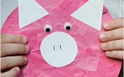 Peppa Pig Inspired Kids Craft