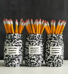 pencil and pen jar holder