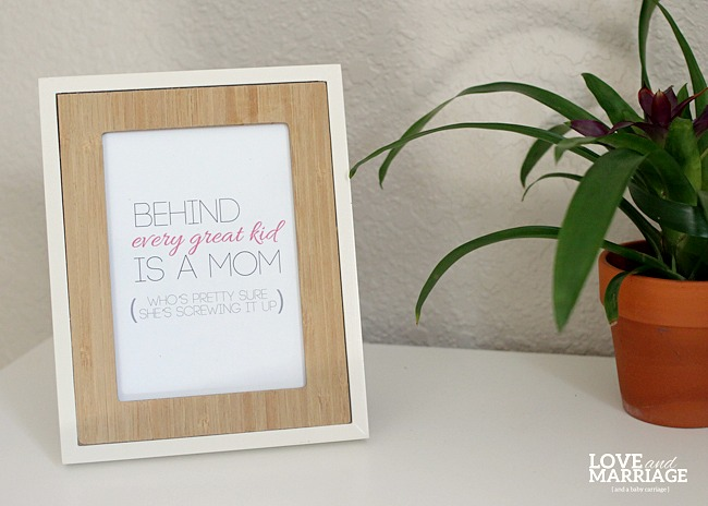 Free Printable {Motherhood Inspirational Quote}