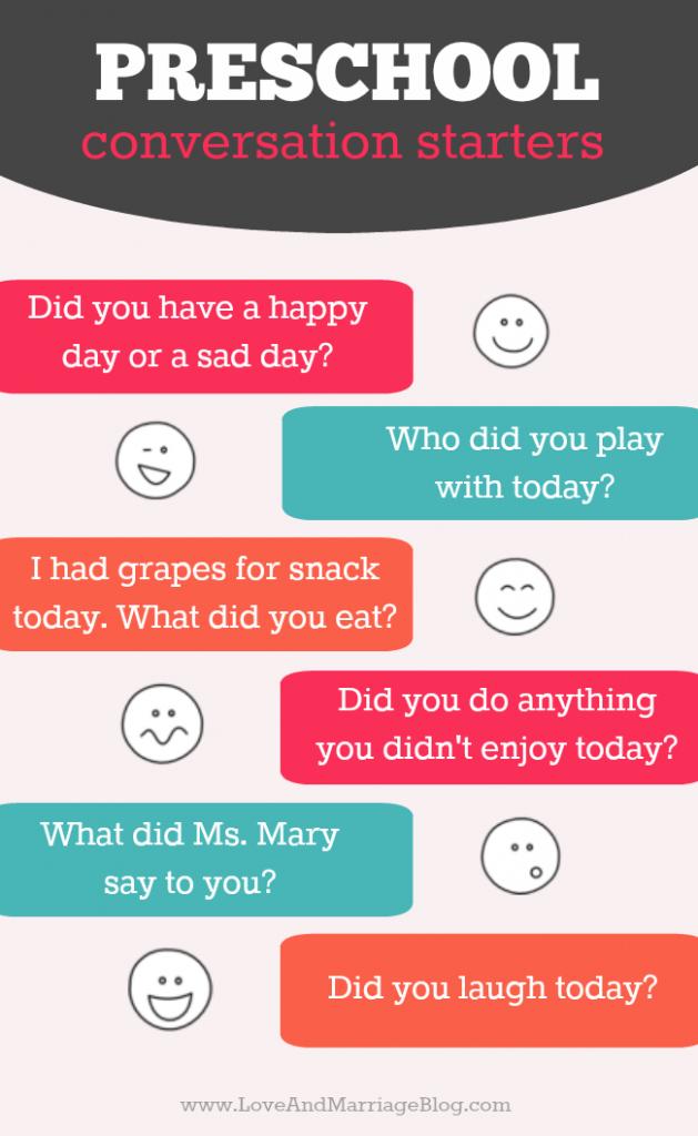 Preschool Conversation Starters