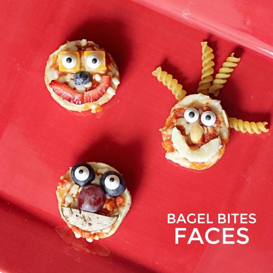 Fun Kid Food {Bagel Bites Faces}