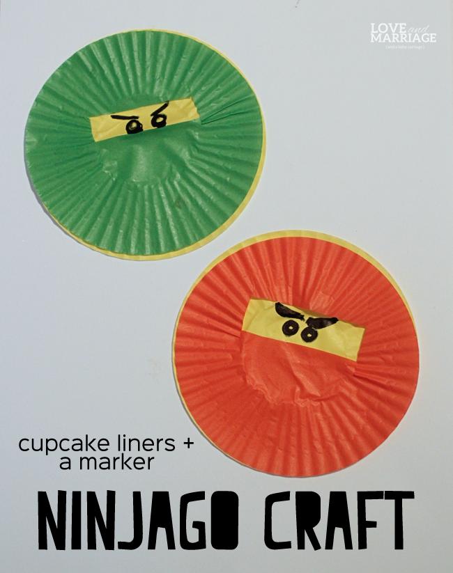 Ninjago cupcake liner craft