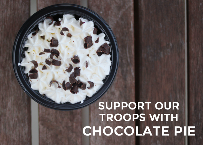 Support Our Troops with Chocolate Pie