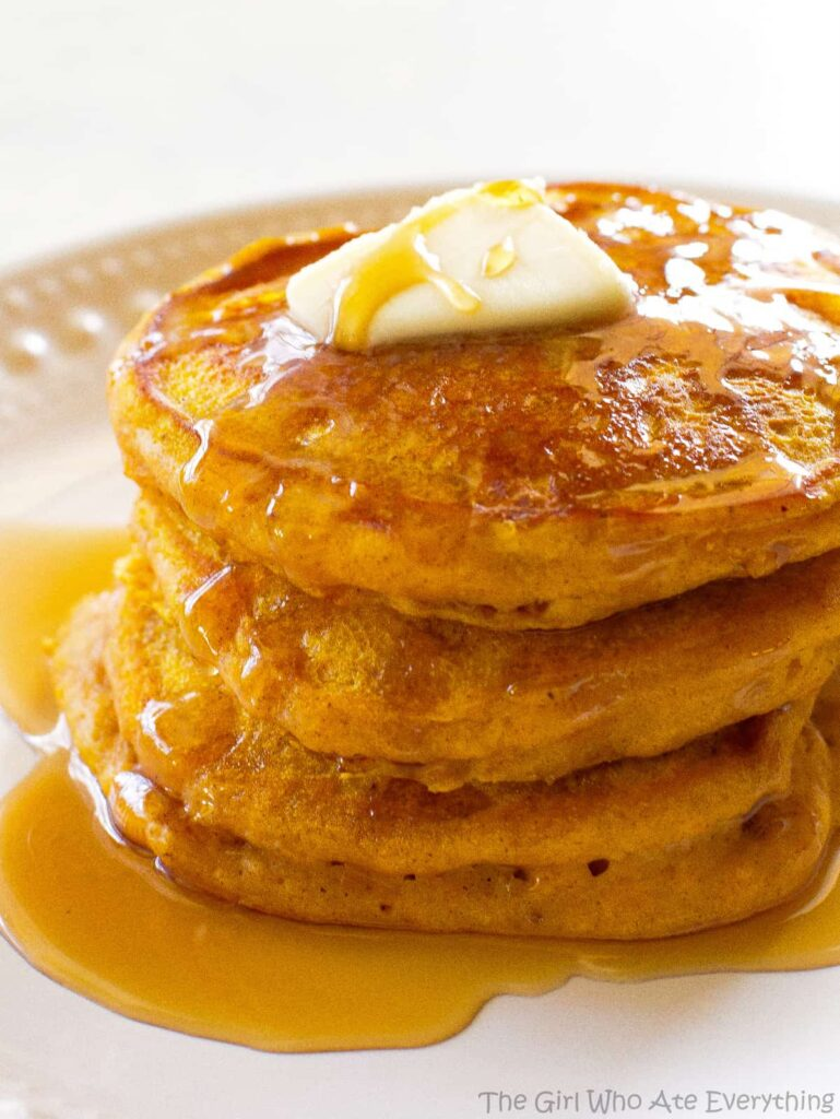 Pumpkin Pancakes - Thanksgiving Breakfast Ideas