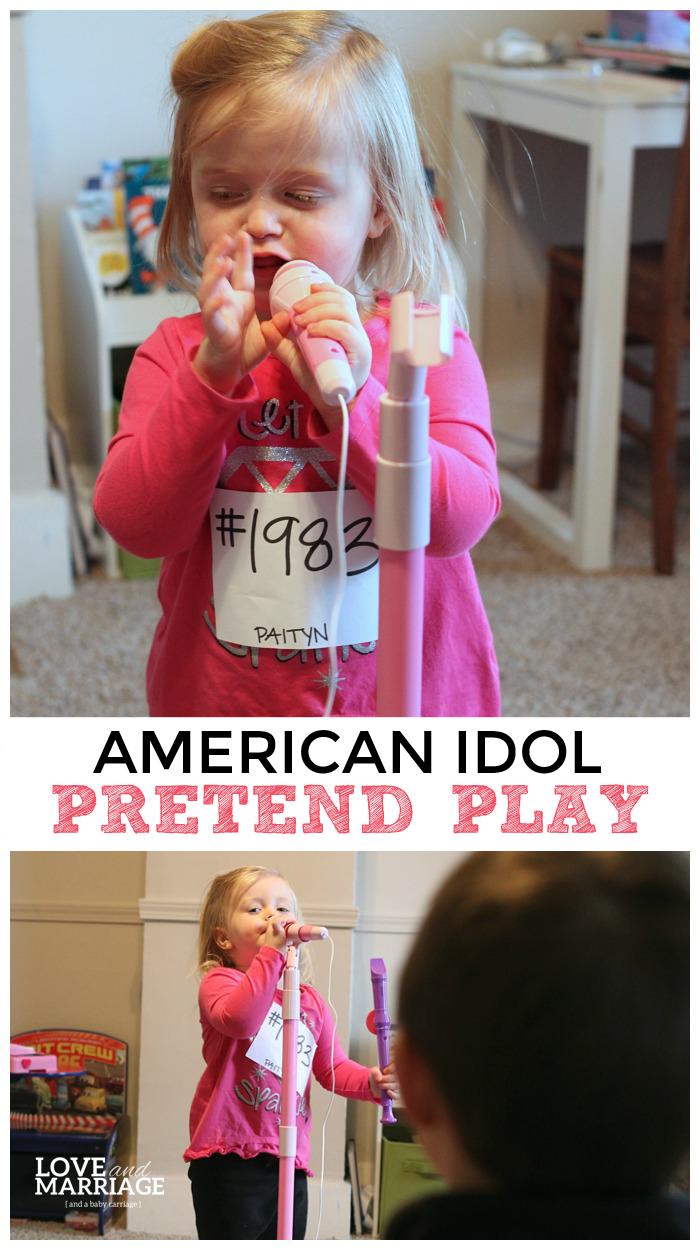American Idol Pretend Play