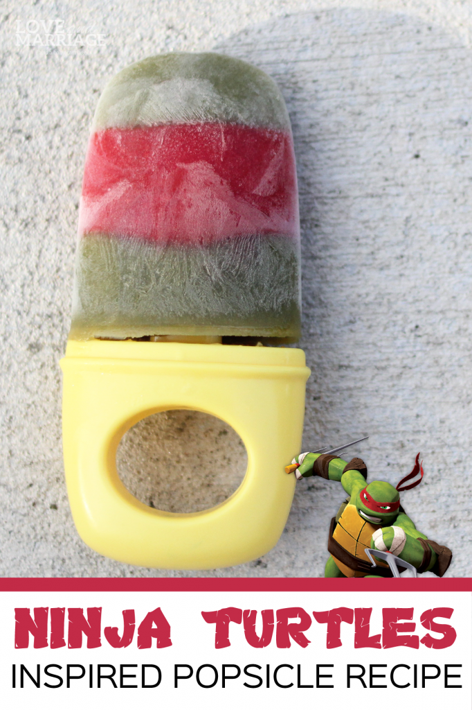 Ninja Turtles Homemade Popsicles