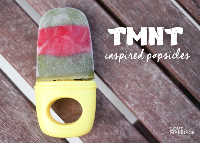 Ninja Turtles Homemade Popsciles