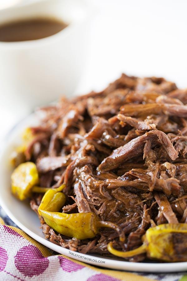 Mississippi Pot Roast - easy crockpot recipes