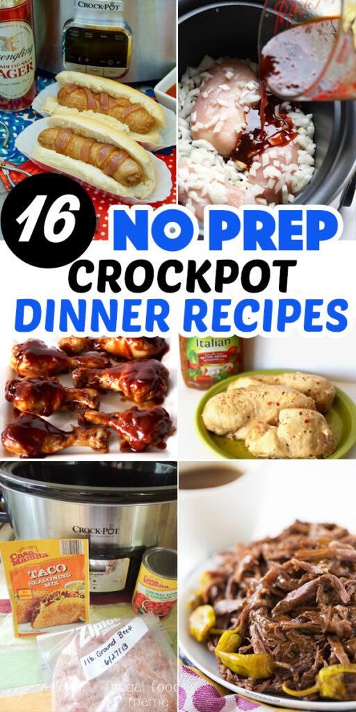 15 No-Prep Crockpot Meals #dinner #recipe #crockpot #slowcooker #food