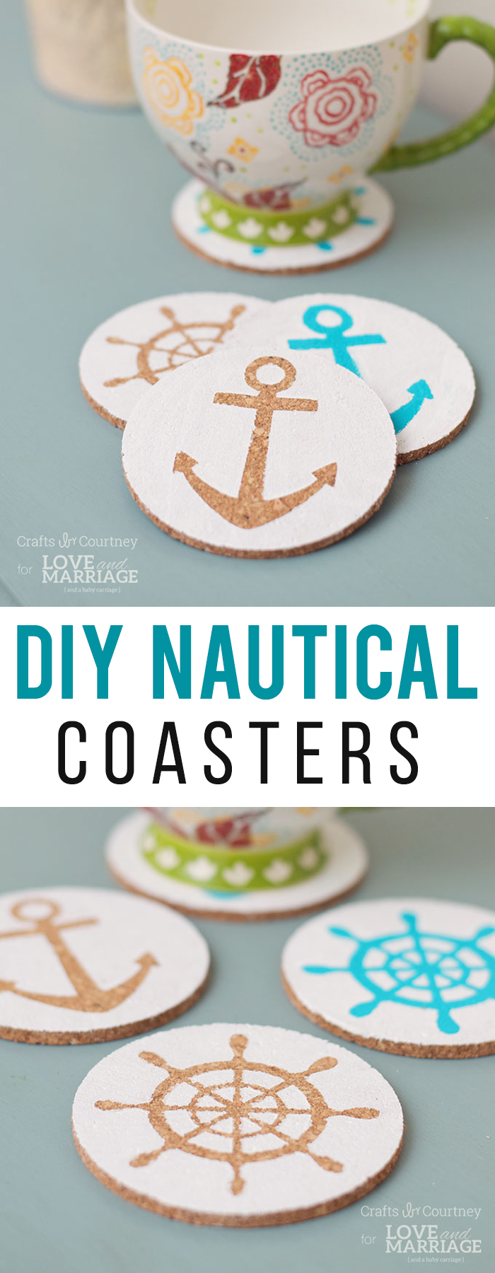 Easy Nautical DIY Coasters