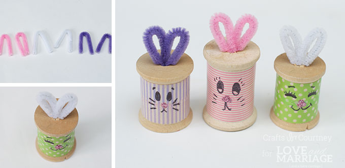 Easter Craft: Thread Spool Bunnies