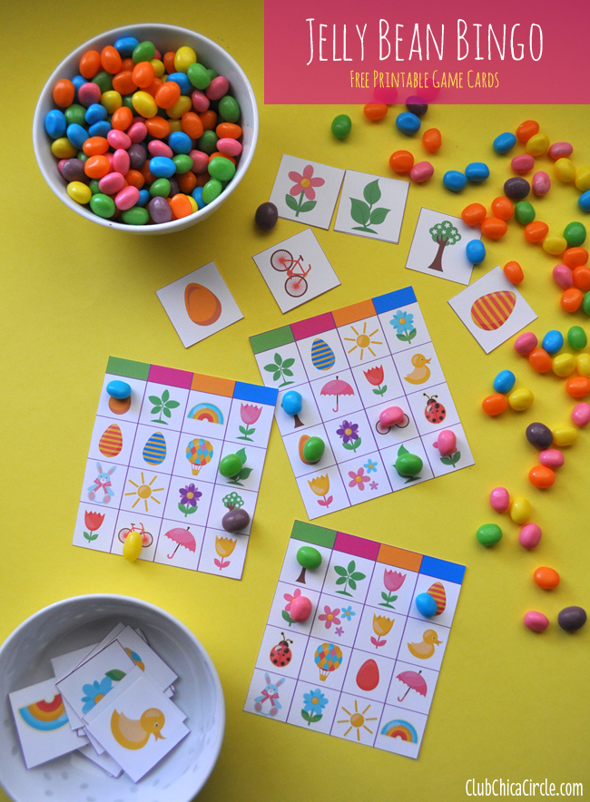 Jelly Bean Bingo Easter Game Free Printable