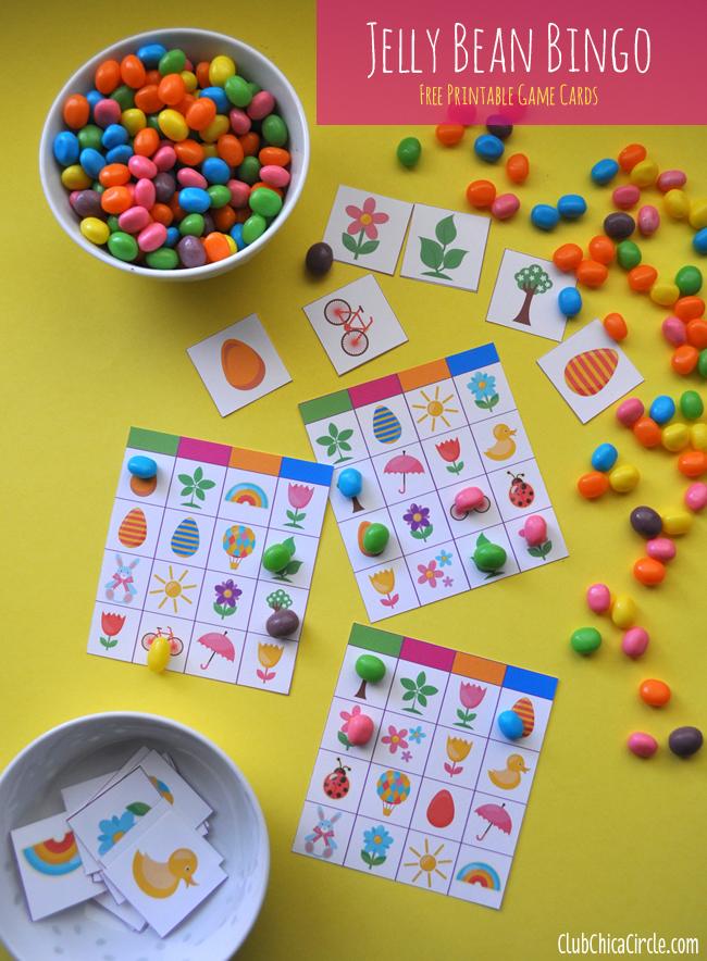Jelly Bean Bingo Easter Game Free Printable