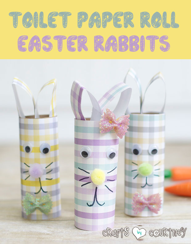 Easter Craft; Toilet Paper Roll Easter Rabbits
