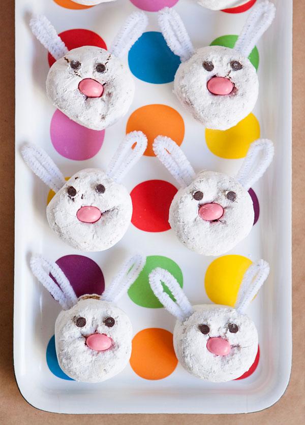Fun Easter Bunny Donuts