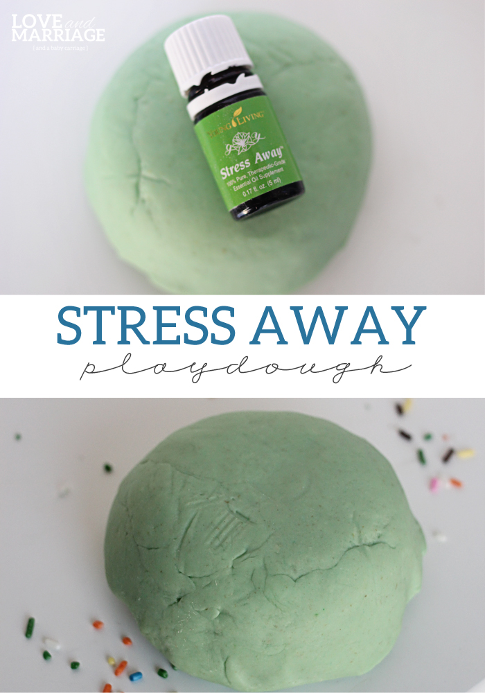 Stress Away Essential Oil Playdough