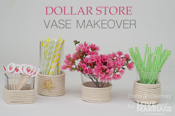 DIY Vase Craft: Dollar Store Vase Makeover