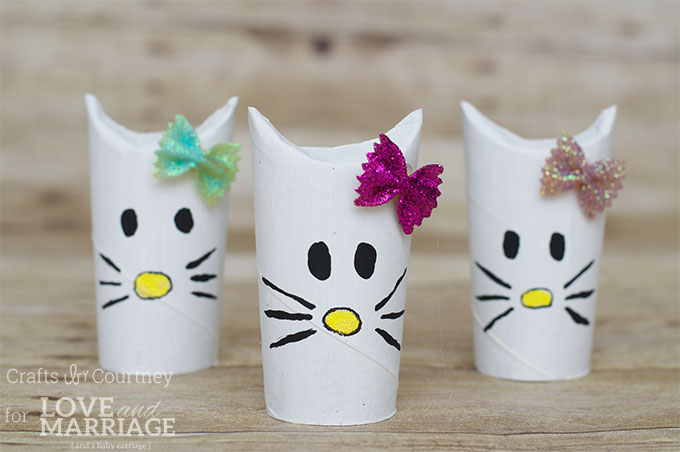 Simple Hello Kitty Craft Using Toilet Paper Rolls Great For A Birthday Party