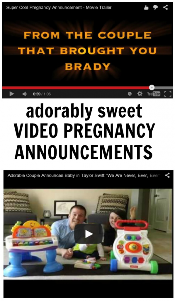 Adorably Sweet Video Pregnancy Announcement Ideas