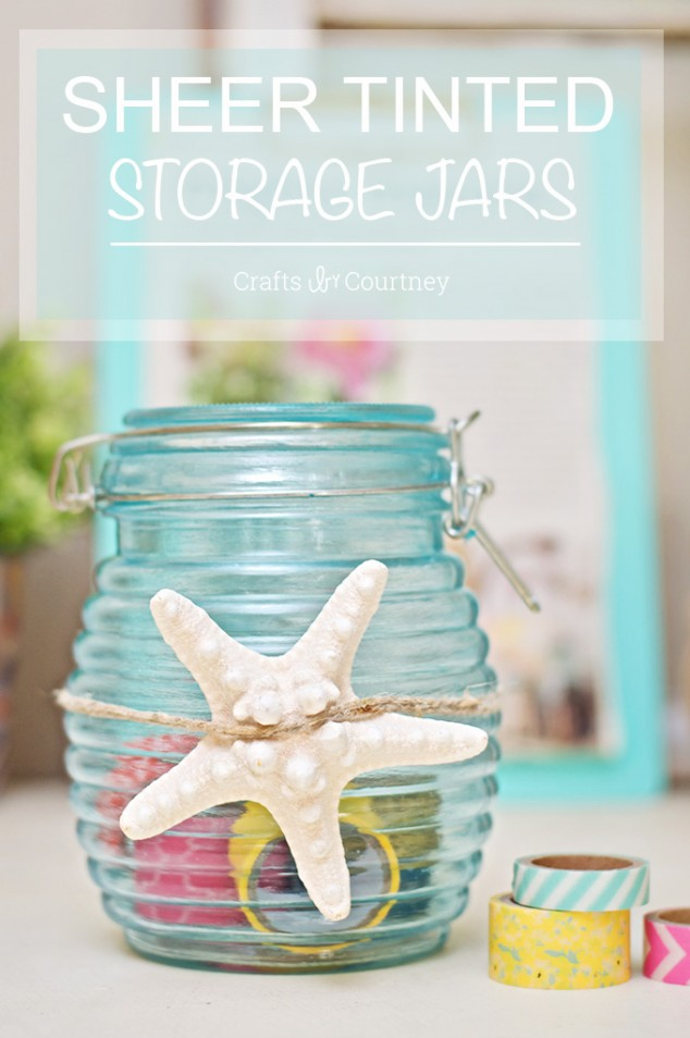 DIY sheer tinted storage jars