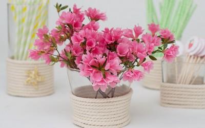 DIY Vase Craft - DIY Vase Craft Dollar Store Vase Makeover