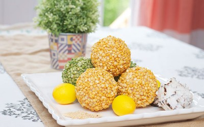 Centerpiece DIY: Decorative Split Pea Balls