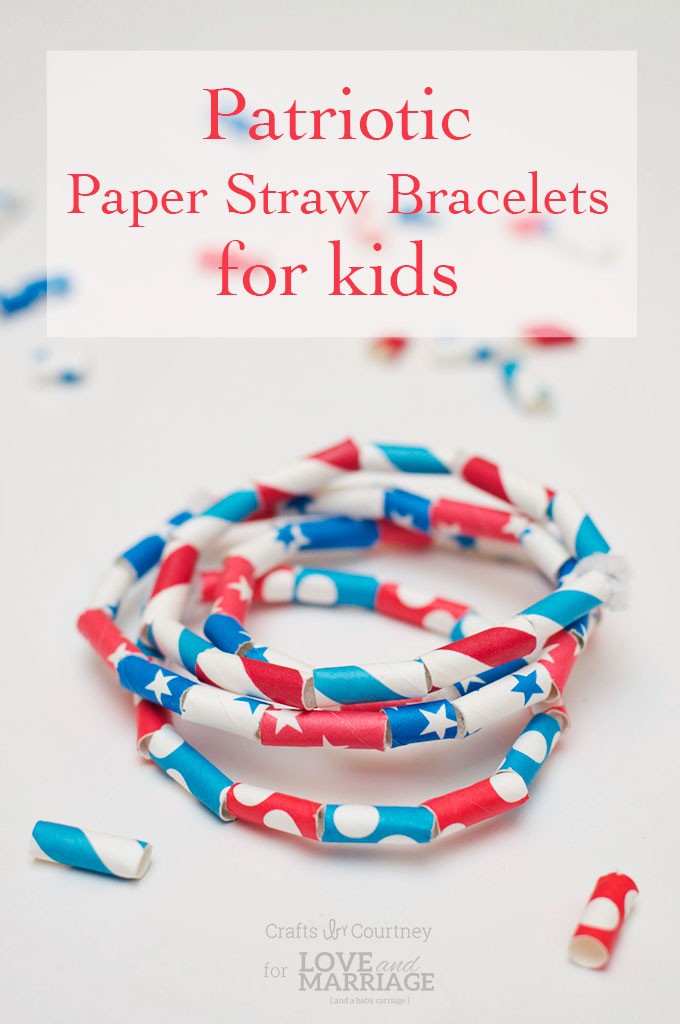 Th Of July Paper Straw Crafts