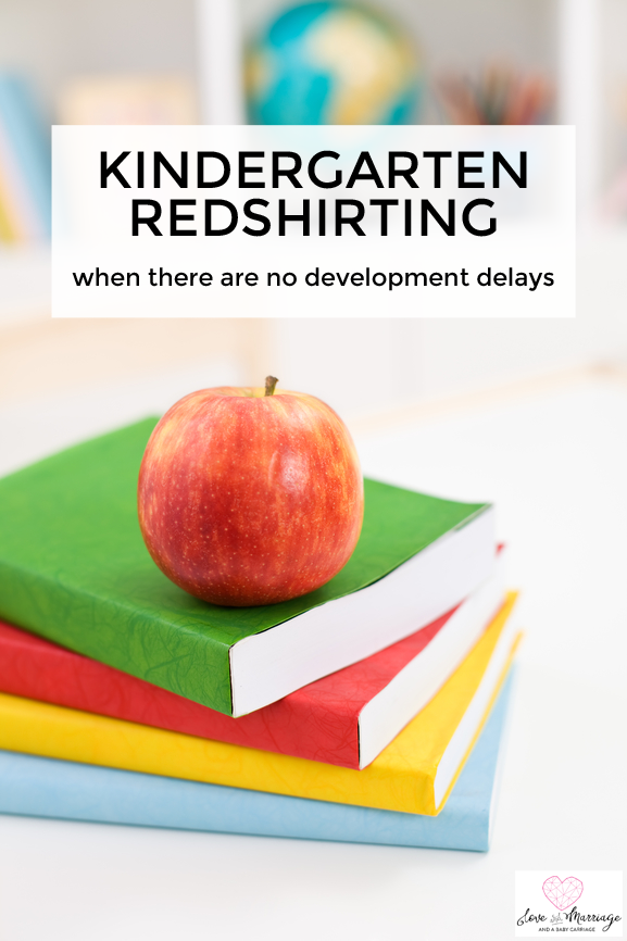 I'm Redshirting My Kindergartner