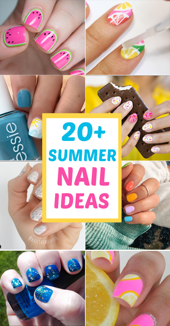 Summer Nails and ideas for the cutest nail designs! #Beauty
