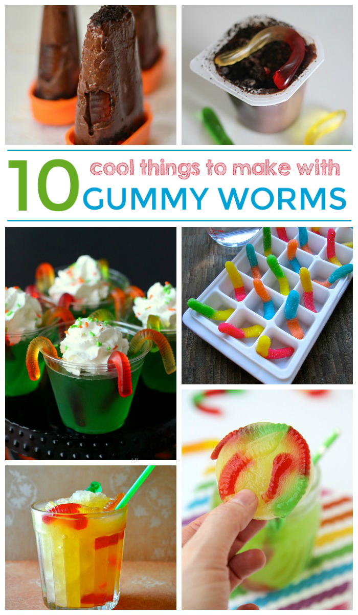 10 super cool things to make with gummy worms for Cool things to make and do