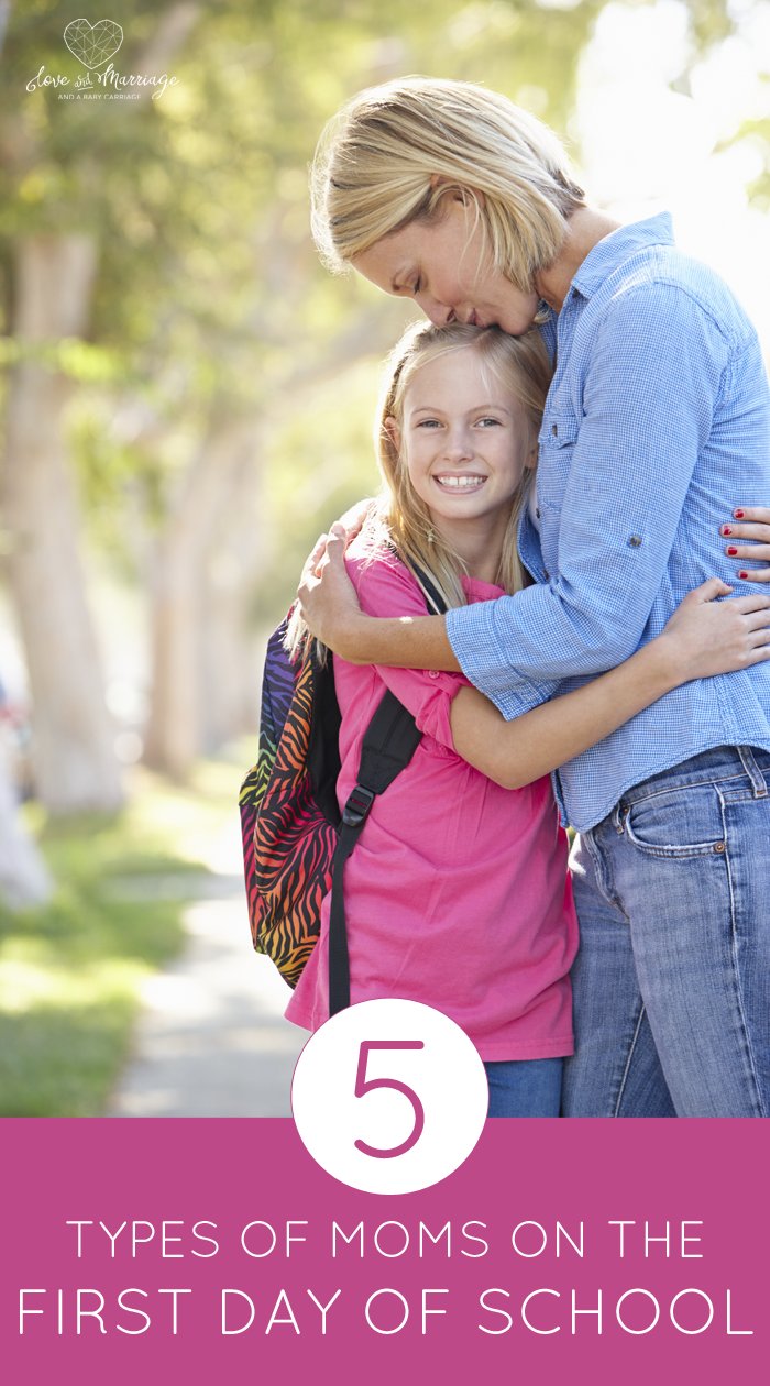 The 5 Types Of Moms You See On The First Day of School